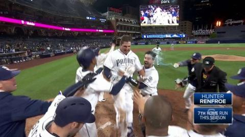 MIL@SD: Renfroe belts a walk-off homer in the 10th