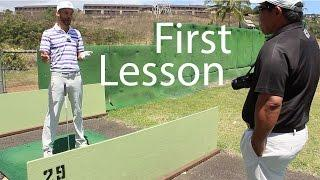 Blaire's Golf Lesson With Kelvin Miyahira - Part 1