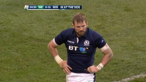 Barclay sent to the bin after repeat infringements! | RBS 6 Nations
