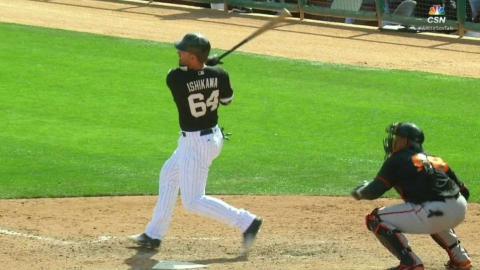 SF@CWS: Ishikawa's solo homer puts White Sox up