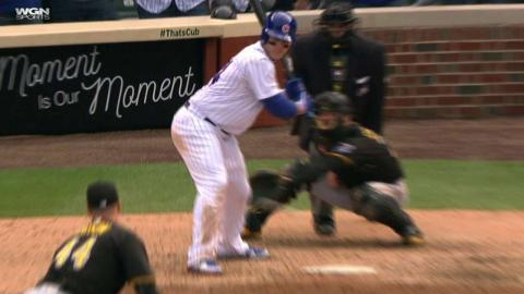 PIT@CHC: Rizzo gets plunked for the second time