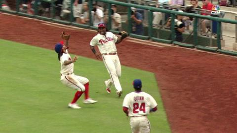 MIA@PHI: Gordon surprised to see Galvis make catch