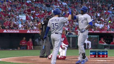 KC@LAA: Cain hammers solo shot to open the scoring