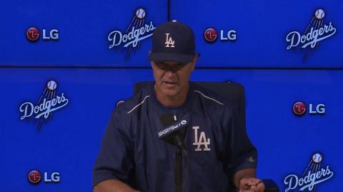 ARI@LAD: Mattingly analyzes Bolsinger's winning start
