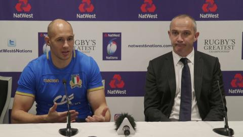 Sergio Parisse and Conor O'Shea Press Conference | NatWest 6 Nations 2018