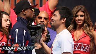 FLOYD MAYWEATHER VS. MANNY PACQUIAO FULL VIDEO- FULL FACE OFF VIDEO