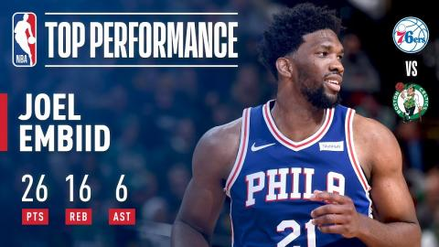 All-Star Starter Joel Embiid Puts Up 26/16/6 in a Victory Over The Celtics | January 18, 2018