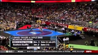 2013 NCAA Wrestling National Championships D1 Kyle Dake (Cornell) Vs David Taylor (PSU)