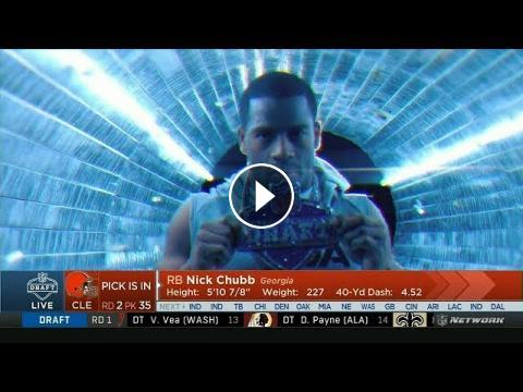 Cleveland Browns select Nick Chubb | Round 2 Pick 3 Overall