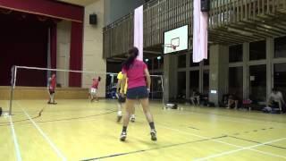 20150503FUMA Badminton Club XD林祖薇+致廷 Vs文馨+阿嘉