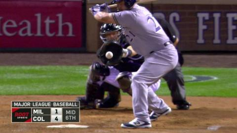 MIL@COL: Bettis leaves the bases full in the 6th