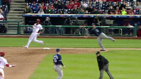 SD@PHI: Two Phillies score after call confirmed