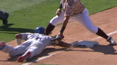 LAD@SD: Safe call on Rollins confirmed in the 7th