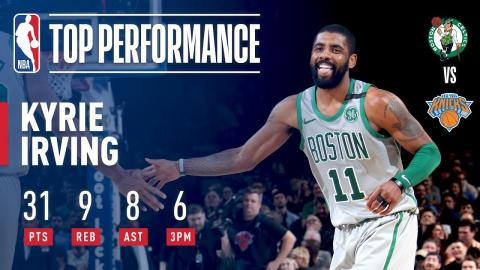 Kyrie Irving Puts On a Show at MSG!   February 24, 2018