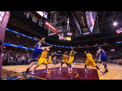 Klay Thompson Attacks the Rack for the Dunk on Mozgov