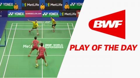 Play Of The Day   Badminton QF - Yonex-Sunrise Hong Kong Open 2017