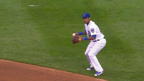 CIN@CHC: A. Russell slides to field sharp grounder