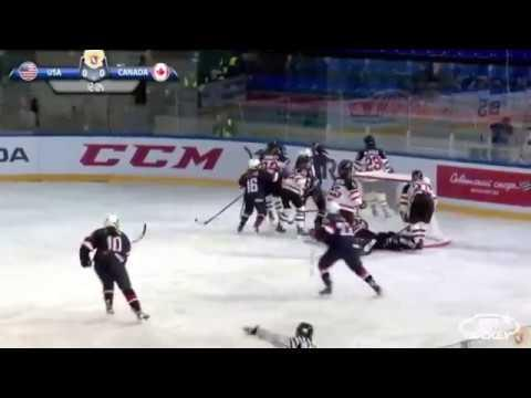 2018 U18WWC: Highlights - USA 6, Canada 2