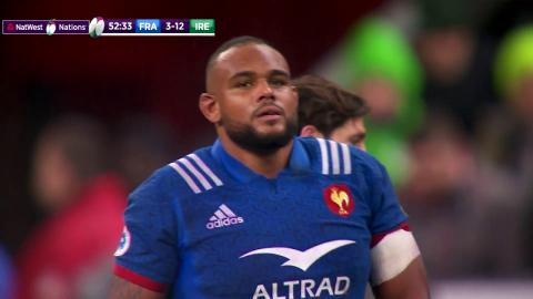Incredible strength from Poirot to rip the ball away! | NatWest 6 Nations