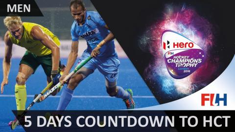 Men's Hockey Champions Trophy Spotlight - 5 days Countdown to London!