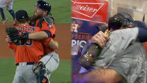 WS2017 Gm7: Astros celebrate winning the World Series