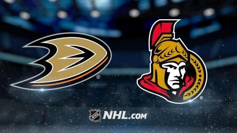 Karlsson lifts Senators past Ducks with PPG in OT