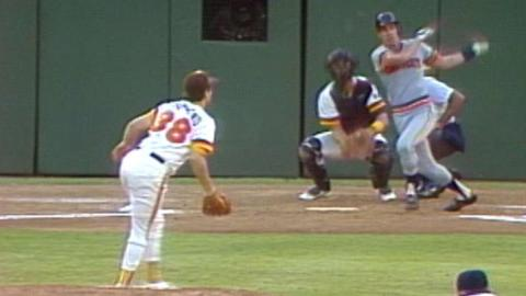 1984 WS Gm1: Trammell drives in Whitaker in the 1st
