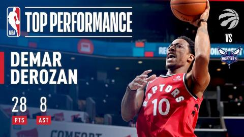DeMar DeRozan Scores 28 and Dishes 8 Assists in Win vs. Hornets | December 20, 2017