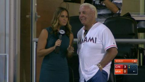 CIN@MIA: Ric Flair joins the booth in Miami