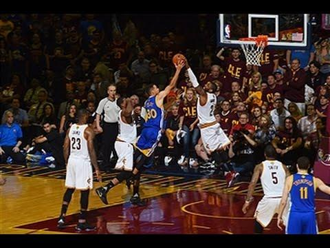 Kyrie Irving Blocks Steph Curry in Game 4!