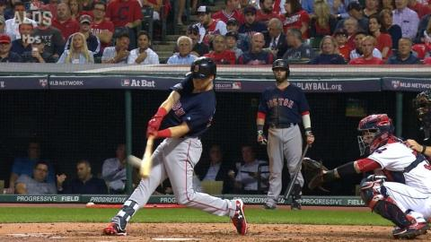 BOS@CLE Gm1: Benintendi belts a solo jack in the 3rd