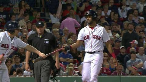 BAL@BOS: Bogaerts drives in a run on a groundout