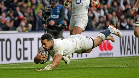 25 metre burst from England prop ends with Te'o try! | RBS 6 Nations