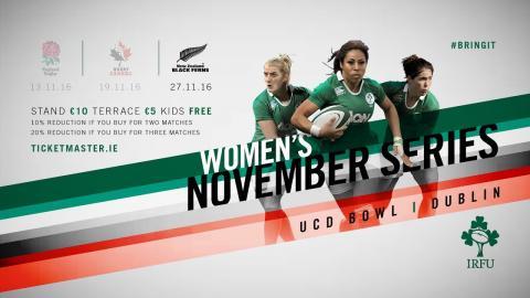 Irish Rugby TV: Ireland Women v New Zealand Women