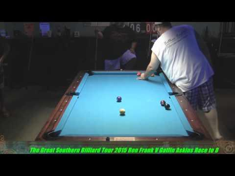 Great Southern Billiard Tour 2015 Gatlin Askins Vs  Ron Frank at Shore Thing Billiards S C