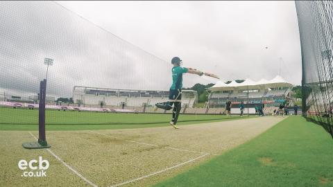 In the nets with England cricketer Sam Billings - GoPro footage