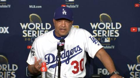 WS2017 Gm2: Roberts on Jansen's outing in tough loss