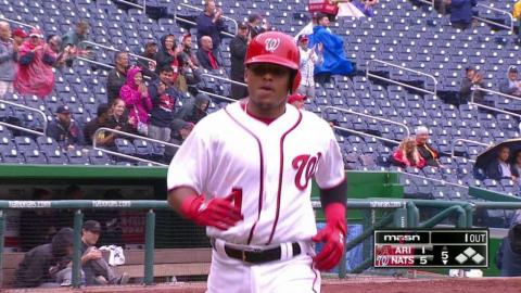 ARI@WSH: Difo launches his first career home run
