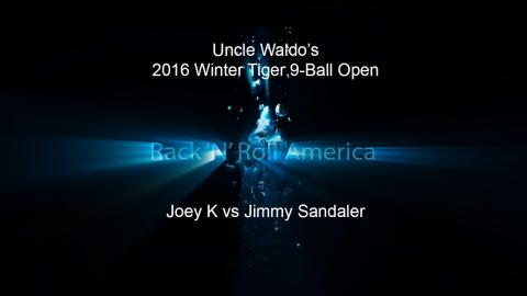 2016 Tiger Tour Winter 9 Ball Open Joey K vs Jimmy Sandaler