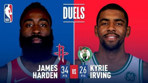Kyrie Irving (26 points) & James Harden (34 points) Duel In Boston!