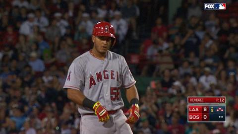 LAA@BOS: Angels put up five runs in the 5th inning