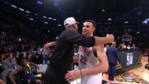 Larry Nance Jr. and Donovan Mitchell Perform Same Dunks As Larry Nance Sr. and Vince Carter!