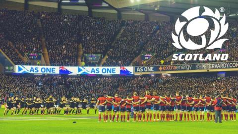The Scotland team are ready to face the Haka, are you? #AsOne