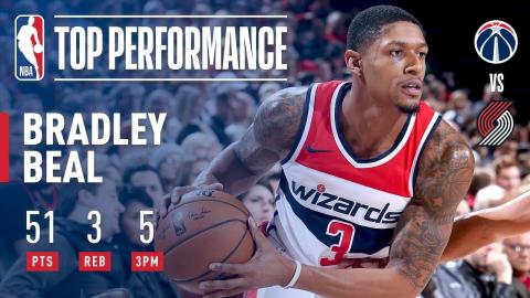 Bradley Beal Goes OFF For a Career-High 51 Points | December 6, 2017