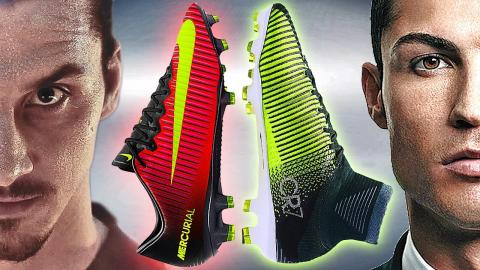 Ibrahimovic VS Ronaldo - Boot Battle: Nike Mercurial Vapor XI vs Superfly V Test & Review