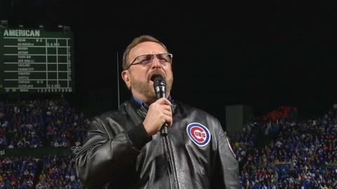 LAD@CHC: Messmer performs national anthem at Wrigley