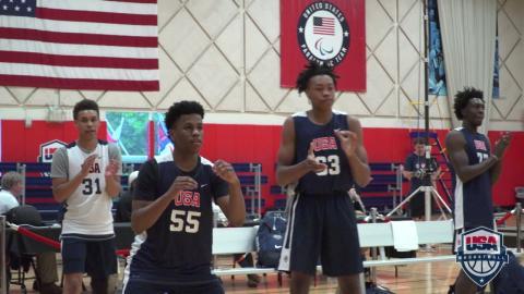 USA Basketball Men's U16 Training Camp Athletes Receive A Little Mind Candy