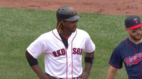 MIN@BOS: Hanley's RBI single gives Red Sox the lead
