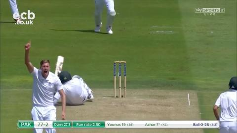 Misbah-ul-Haq 110 not out and Jake Ball first Test wicket