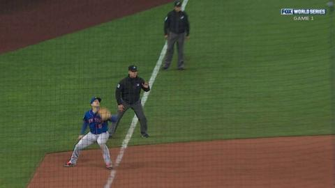 WS2015 Gm1: Perez rips a single off third base bag
